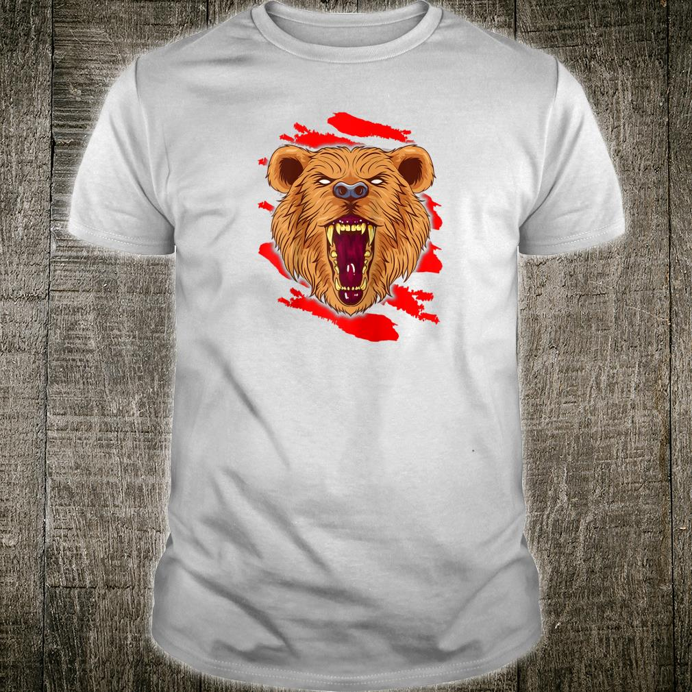 Angry Roaring Bear for Wild Animal and Bear Shirt
