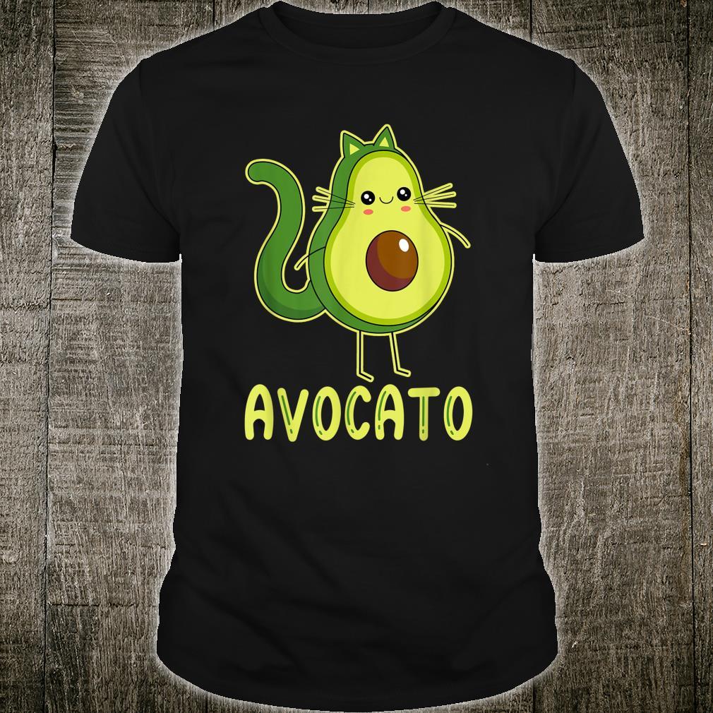 Avocato Cute Cat Avocado For Vegan And Cat Shirt
