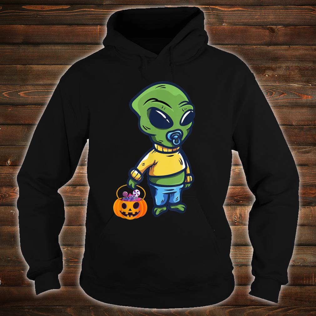 Baby Alien Holding a Pumpkin Halloween Costume Shirt hoodie
