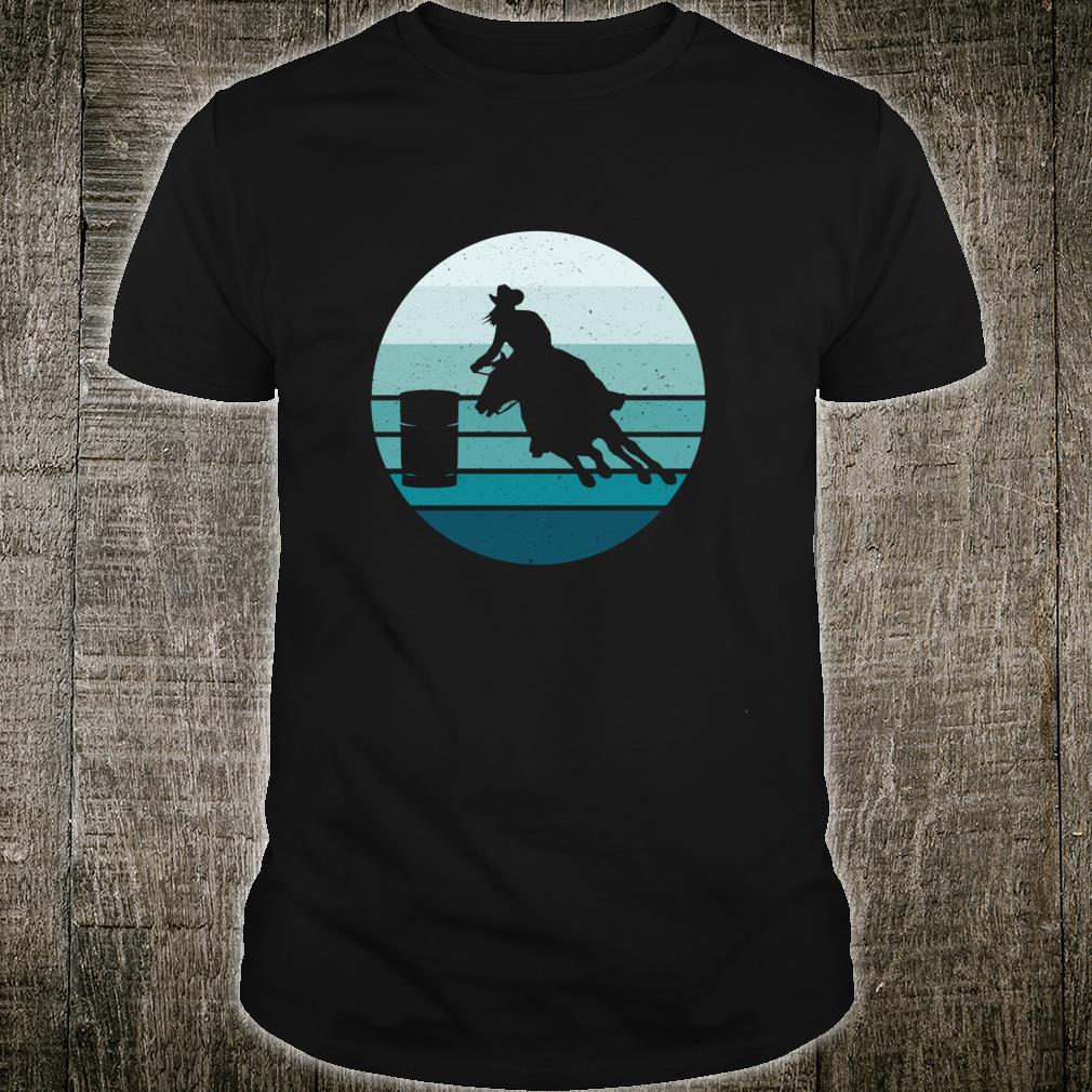 Barrel Racer Bedrängter blauer Sonnenuntergang Shirt