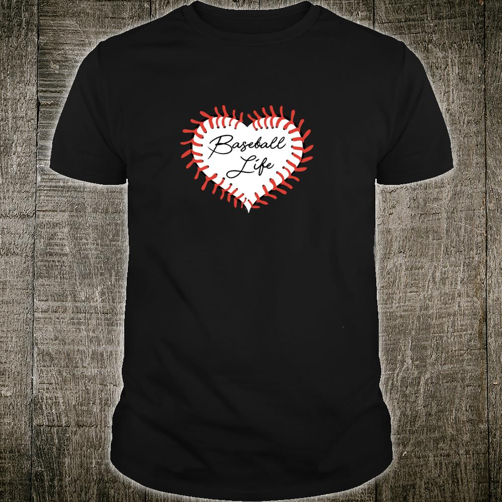 Baseball Life Stitches Heart Love Player Home Plate Dirt Shirt