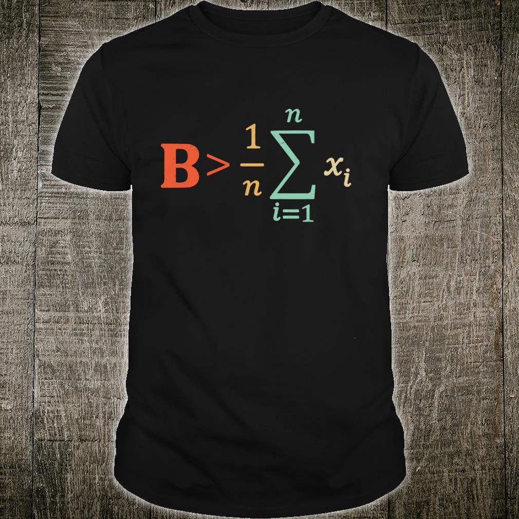 Be Greater Than Average Math Teacher Nerd Shirt