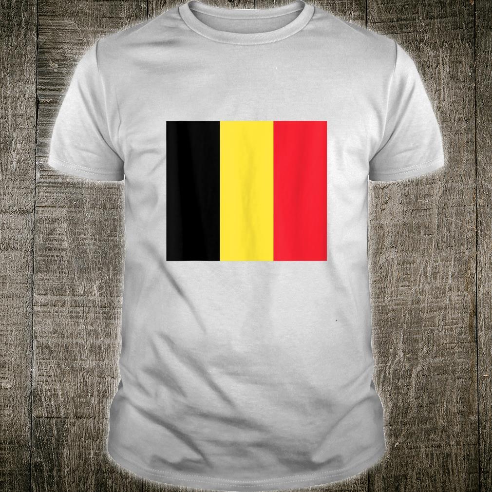 Belgium Flag Jersey Style Vintage Belgian Pride Flags Fan Shirt