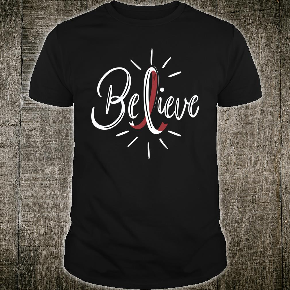 Believe Head And Neck Cancer Awareness Survivor Shirt