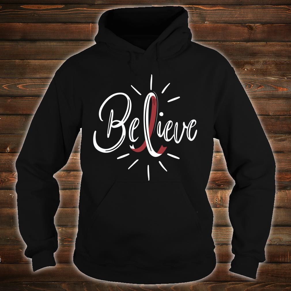 Believe Head And Neck Cancer Awareness Survivor Shirt hoodie