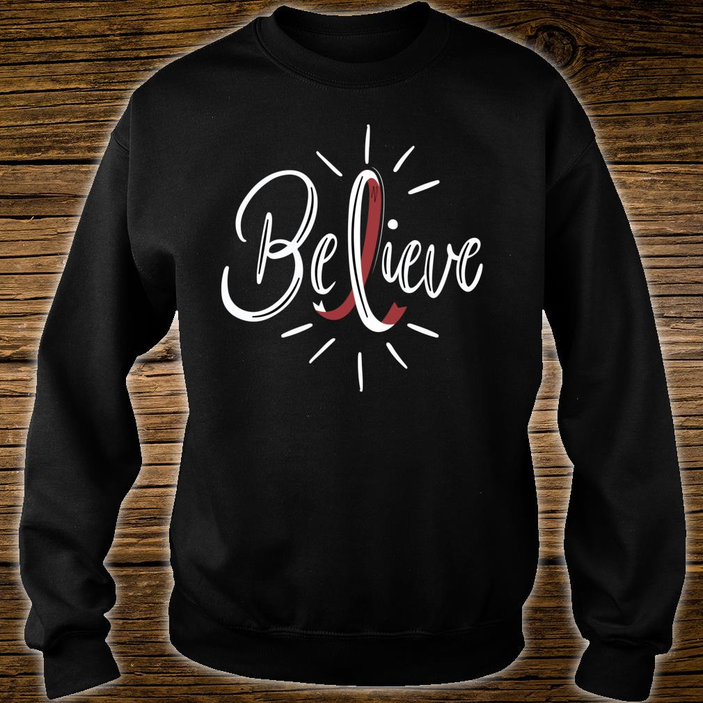 Believe Head And Neck Cancer Awareness Survivor Shirt sweater