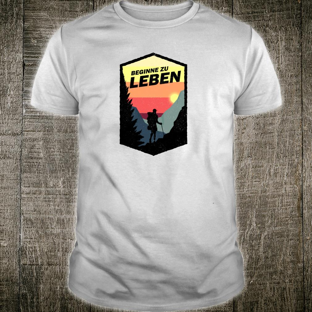 Bergzeit Wandern Schwarzwald Vintage Retro Bergliebe Shirt