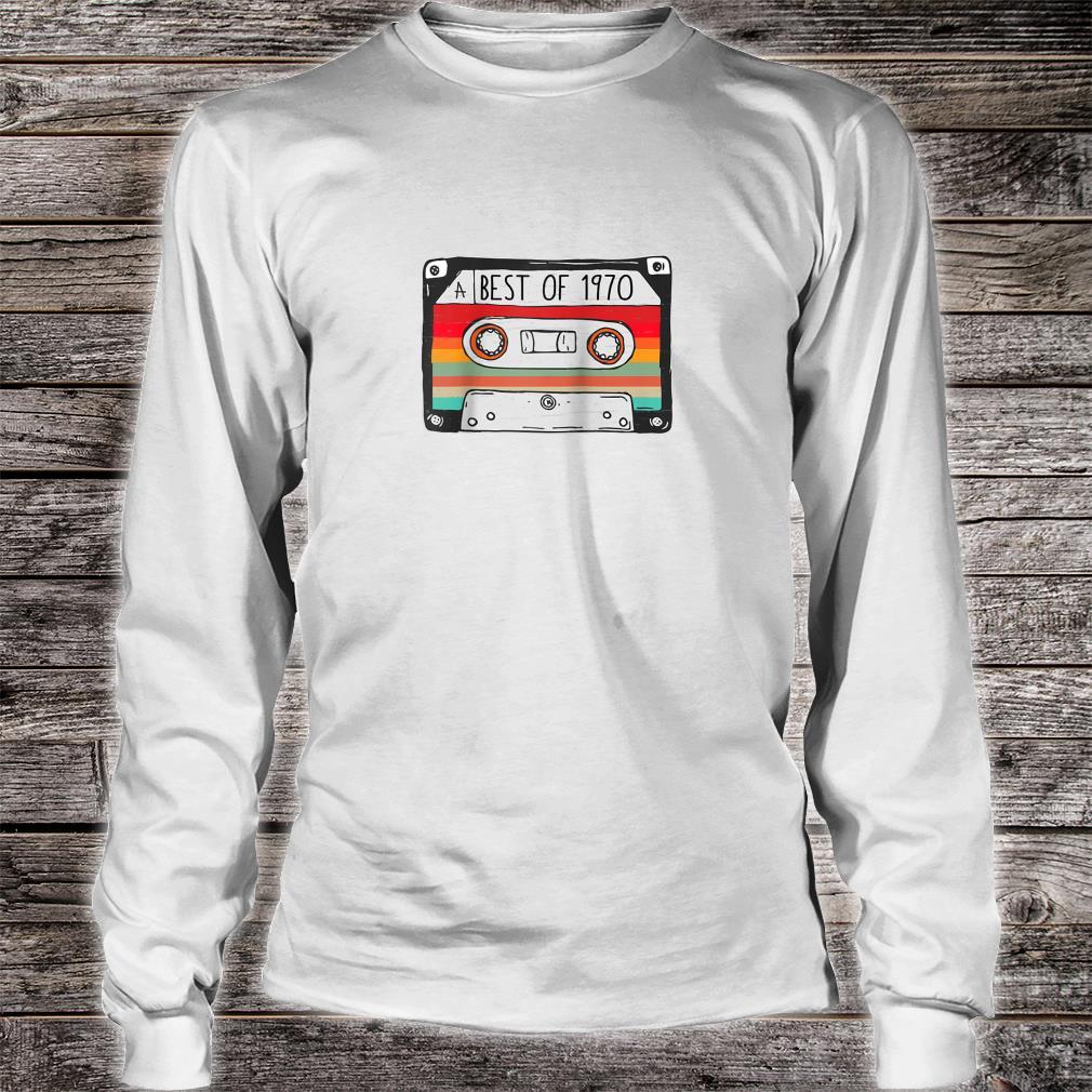 Best Of 1970 50th Birthday Cassette Tape Vintage Shirt long sleeved