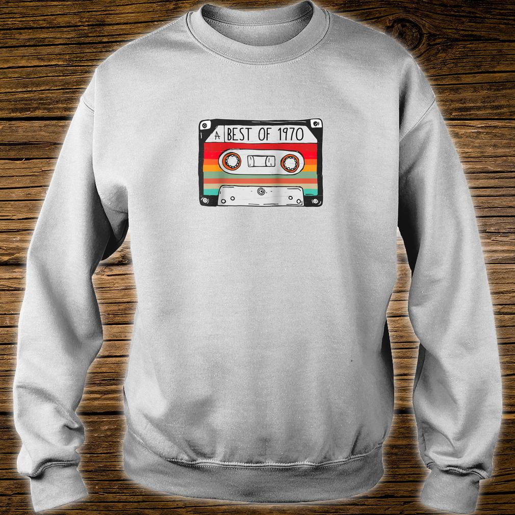 Best Of 1970 50th Birthday Cassette Tape Vintage Shirt sweater