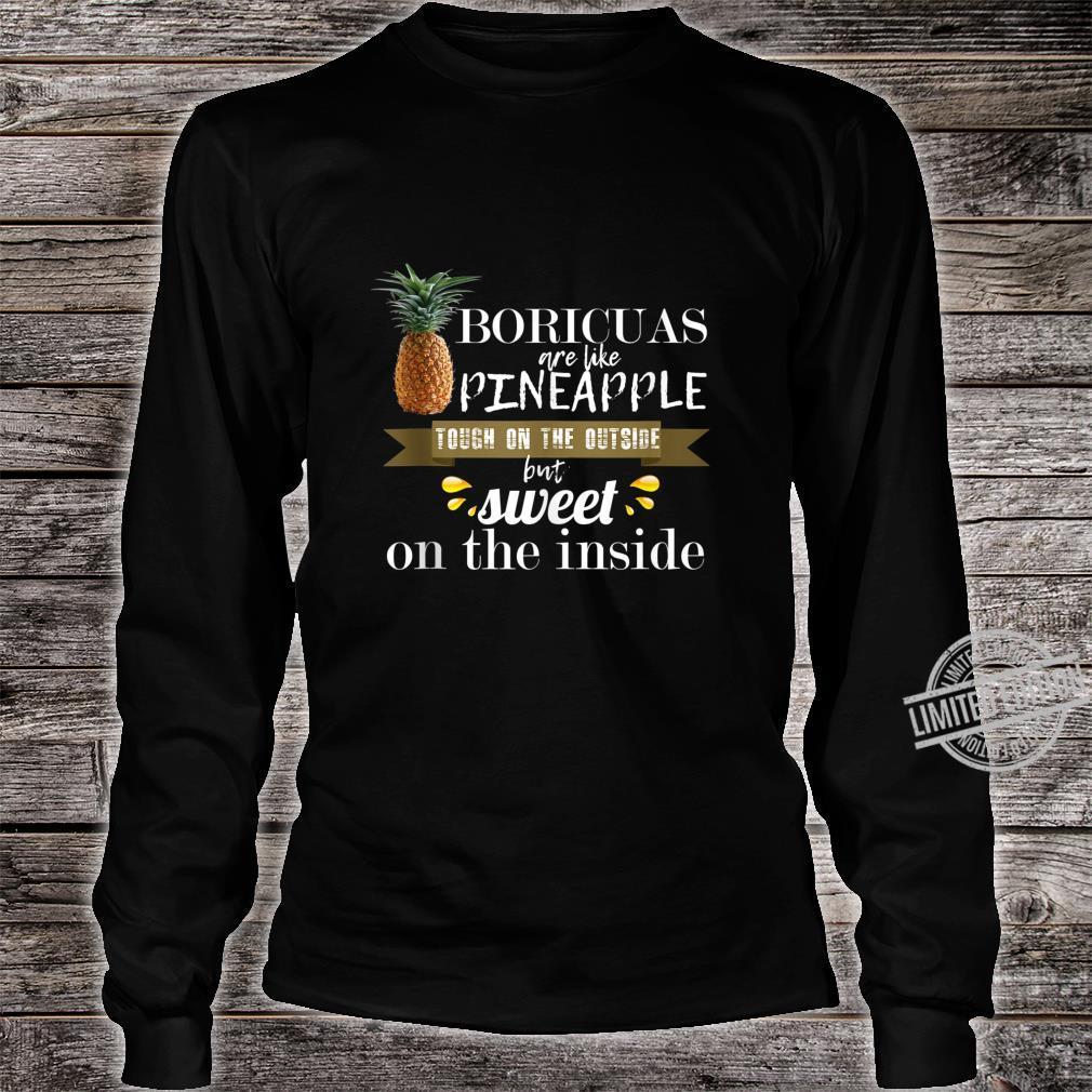 Boricua borinquen puerto rico like pineapple cool Shirt long sleeved