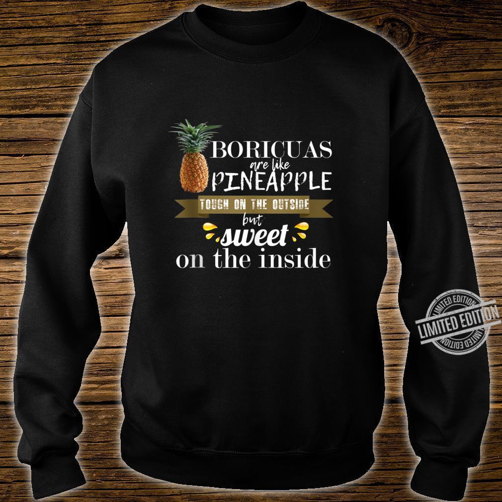 Boricua borinquen puerto rico like pineapple cool Shirt sweater