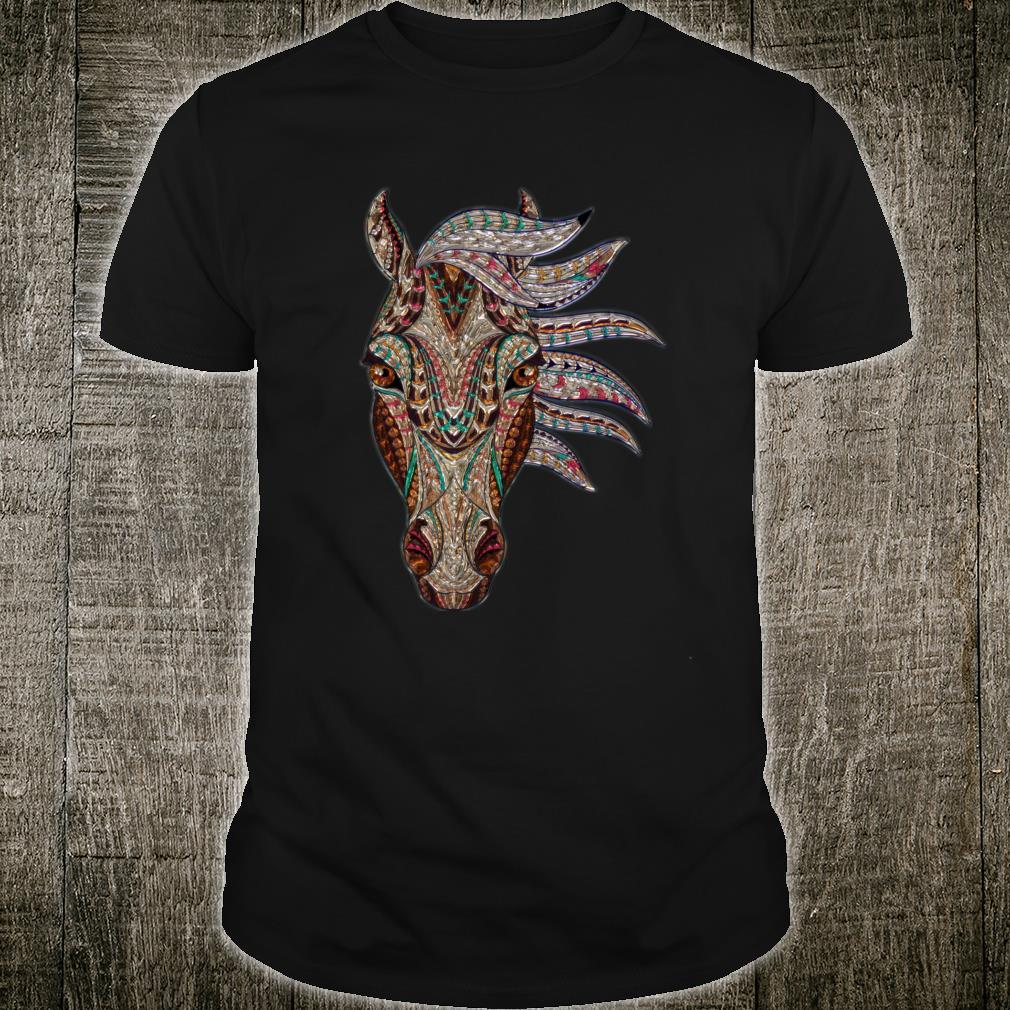 Buntes Pferdegesicht Pferdeliebhabergeschenke Männer Frauen Shirt