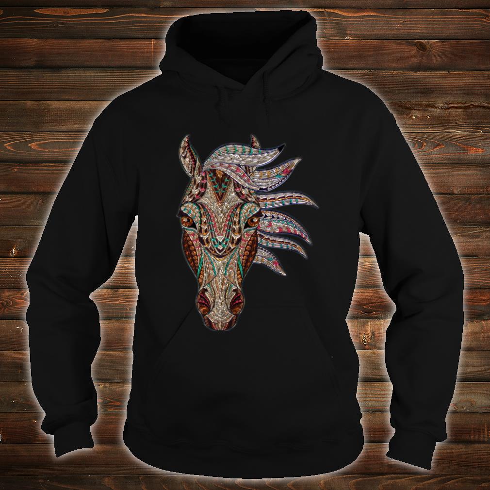 Buntes Pferdegesicht Pferdeliebhabergeschenke Männer Frauen Shirt hoodie