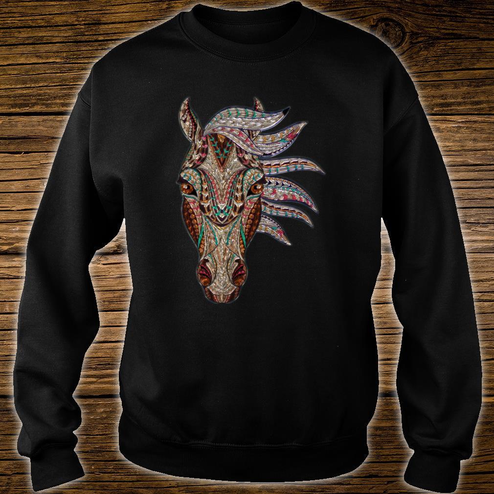 Buntes Pferdegesicht Pferdeliebhabergeschenke Männer Frauen Shirt sweater