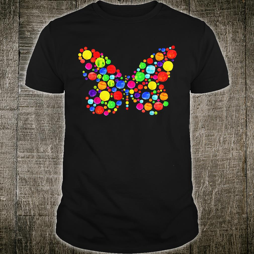 Butterfly Pulka Dot Watercolor International Dot Day Teacher Shirt