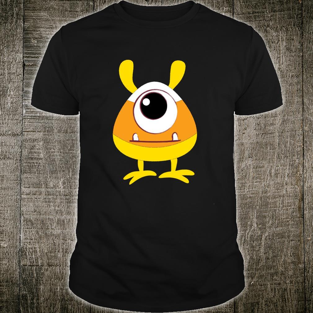 Candy Corn Monster Face Eyeball Birthday Halloween Shirt