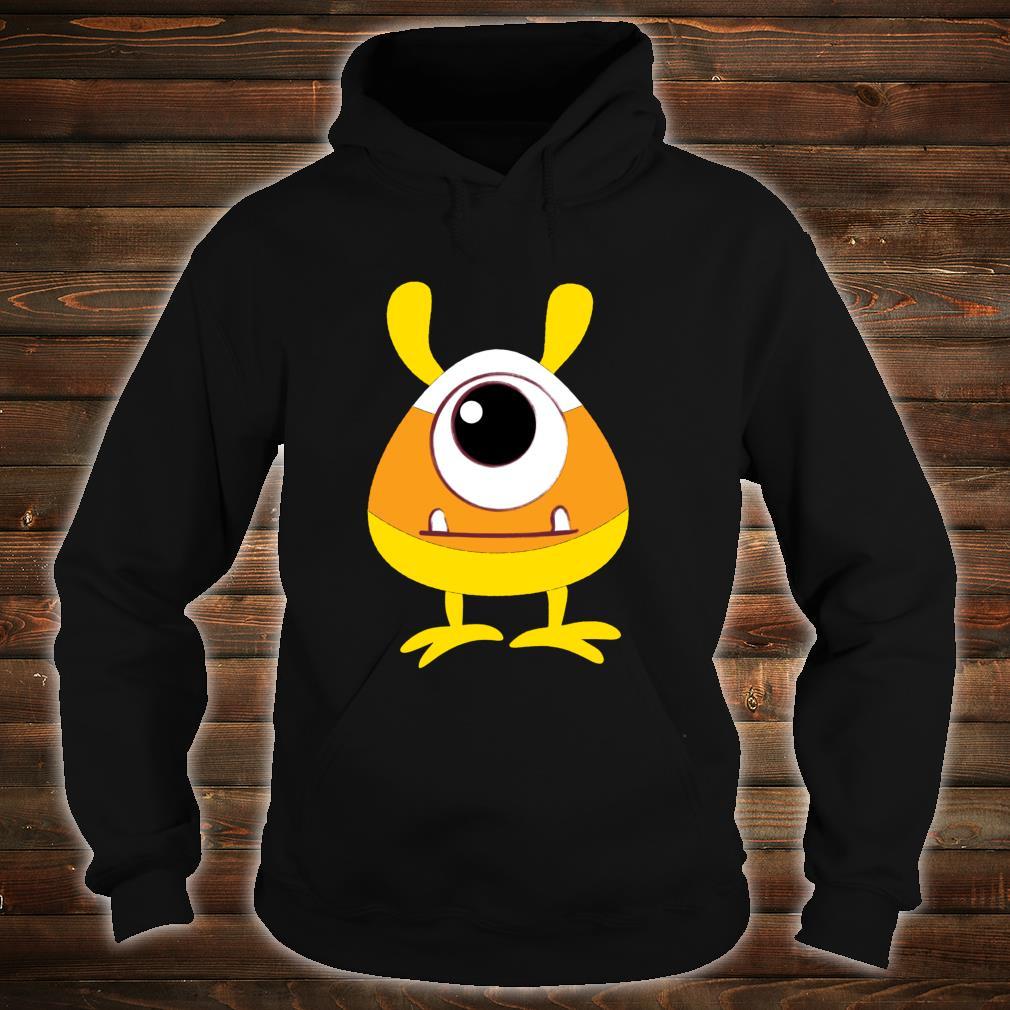 Candy Corn Monster Face Eyeball Birthday Halloween Shirt hoodie