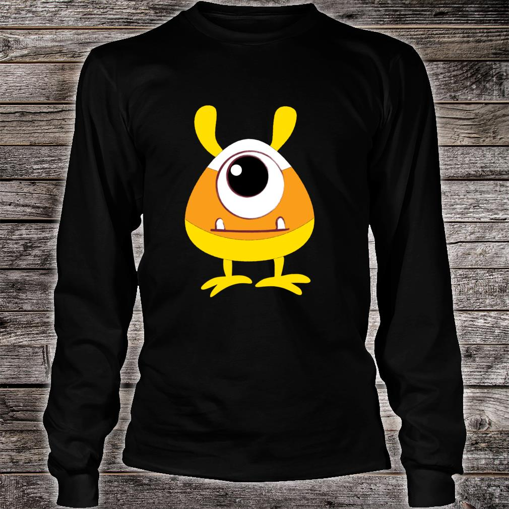 Candy Corn Monster Face Eyeball Birthday Halloween Shirt long sleeved