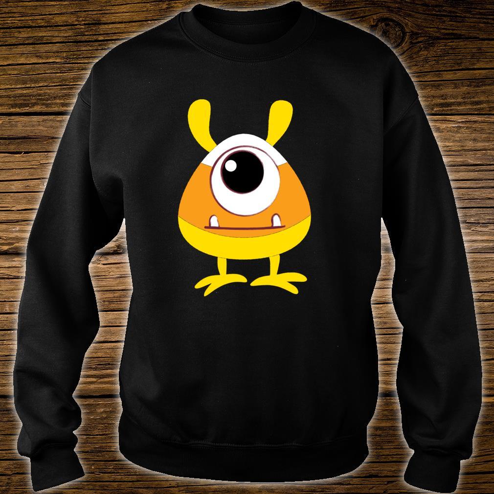 Candy Corn Monster Face Eyeball Birthday Halloween Shirt sweater
