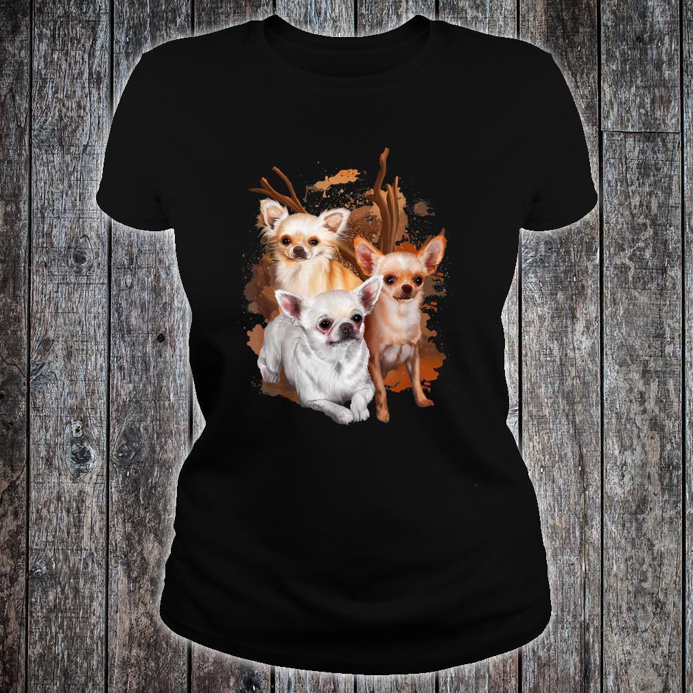 Chihuahua Hund Damen Herren Geschenk Hunderasse Shirt ladies tee