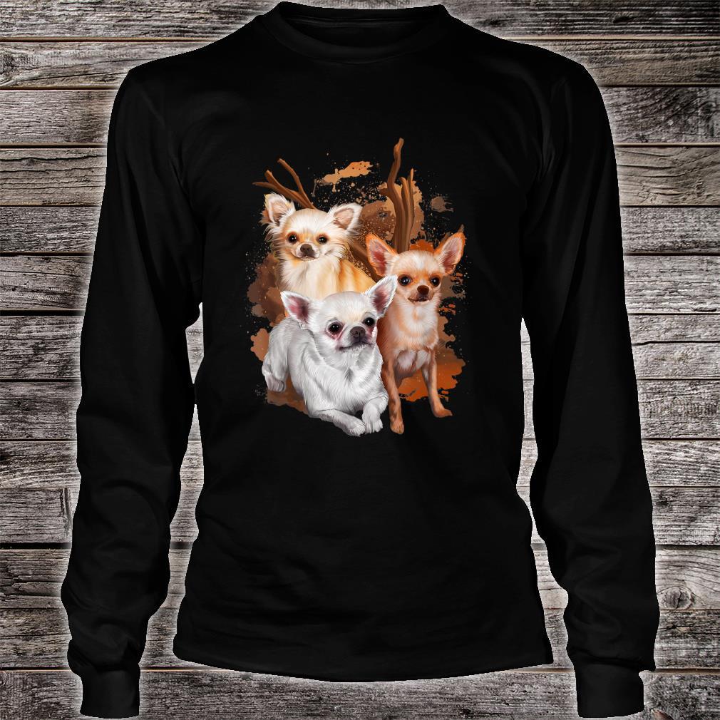 Chihuahua Hund Damen Herren Geschenk Hunderasse Shirt long sleeved