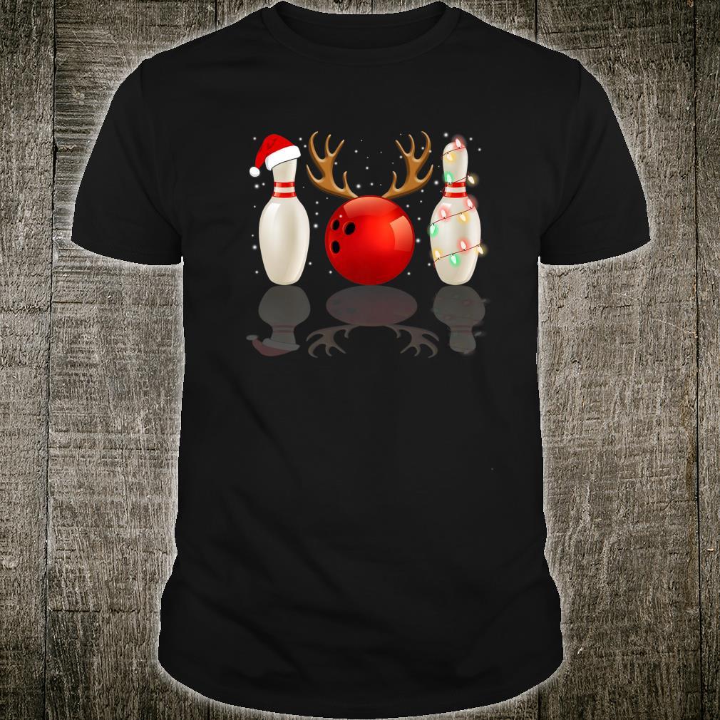 Christmas Lights Bowling Bowl Xmas Shirt