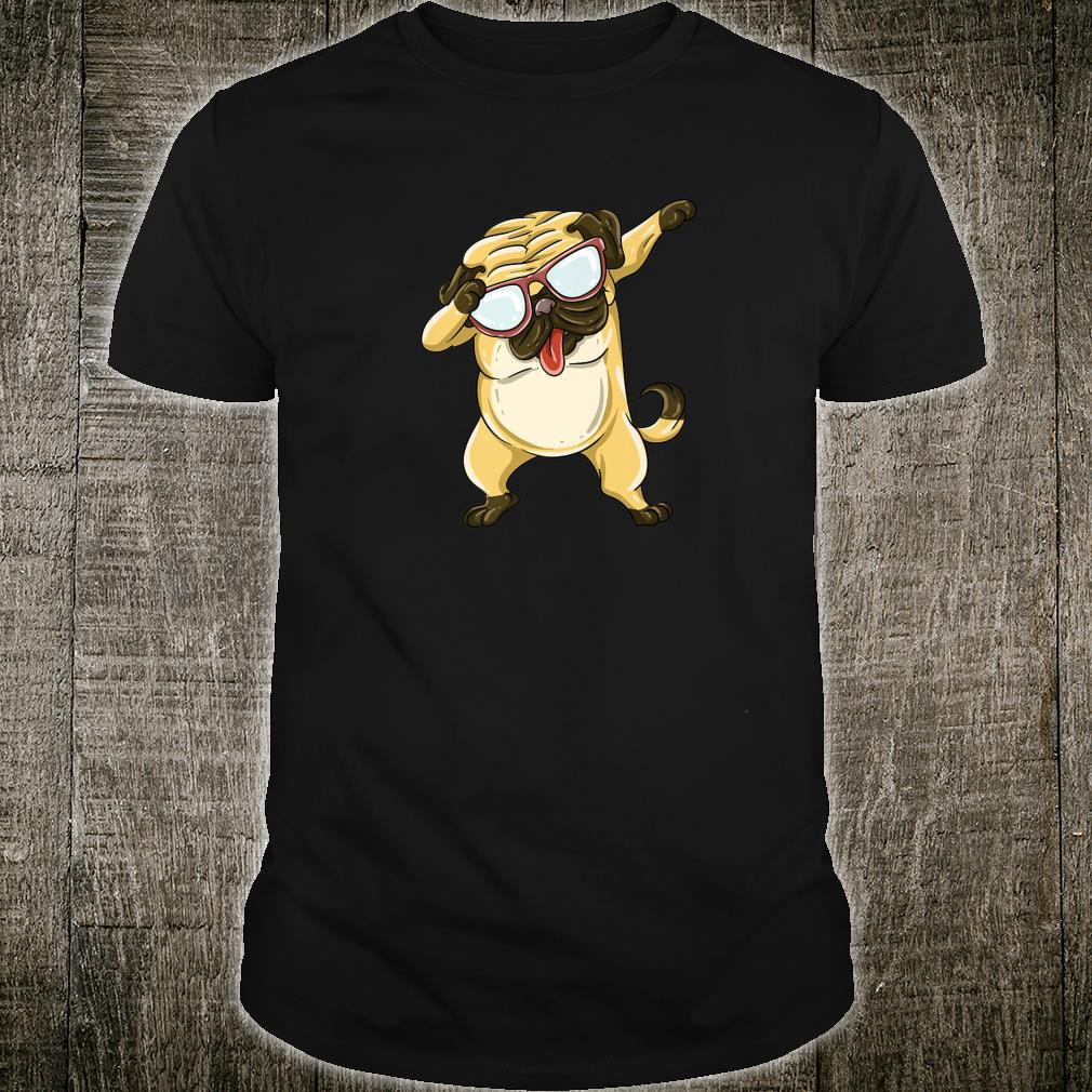 Cool Dabbing Pug HipHop Music Dog Pose Dancer Shirt