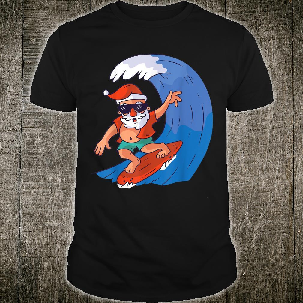 Cool Summer Christmas Santa Claus surfing, Summer sports Shirt