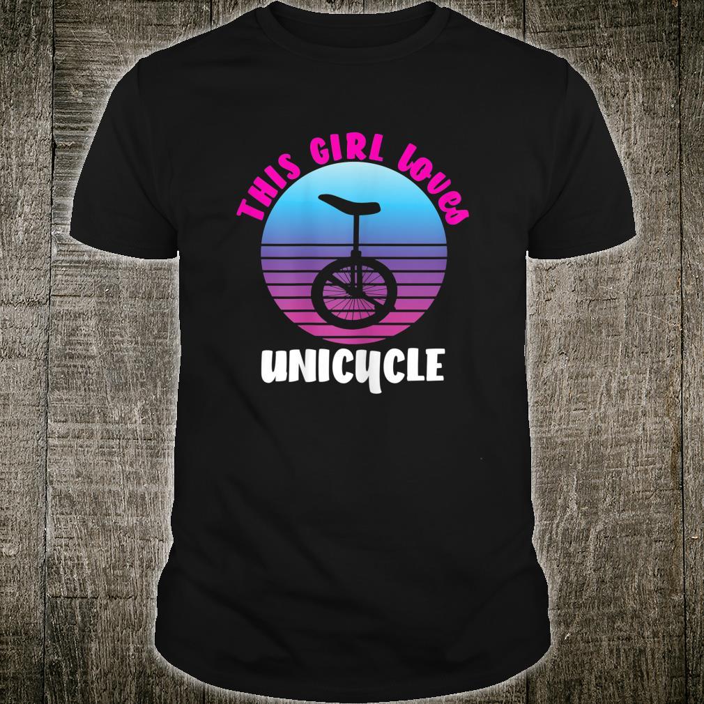 Coole Mädchen fahren Einrad Einradfahrer Unicycle Motiv Shirt