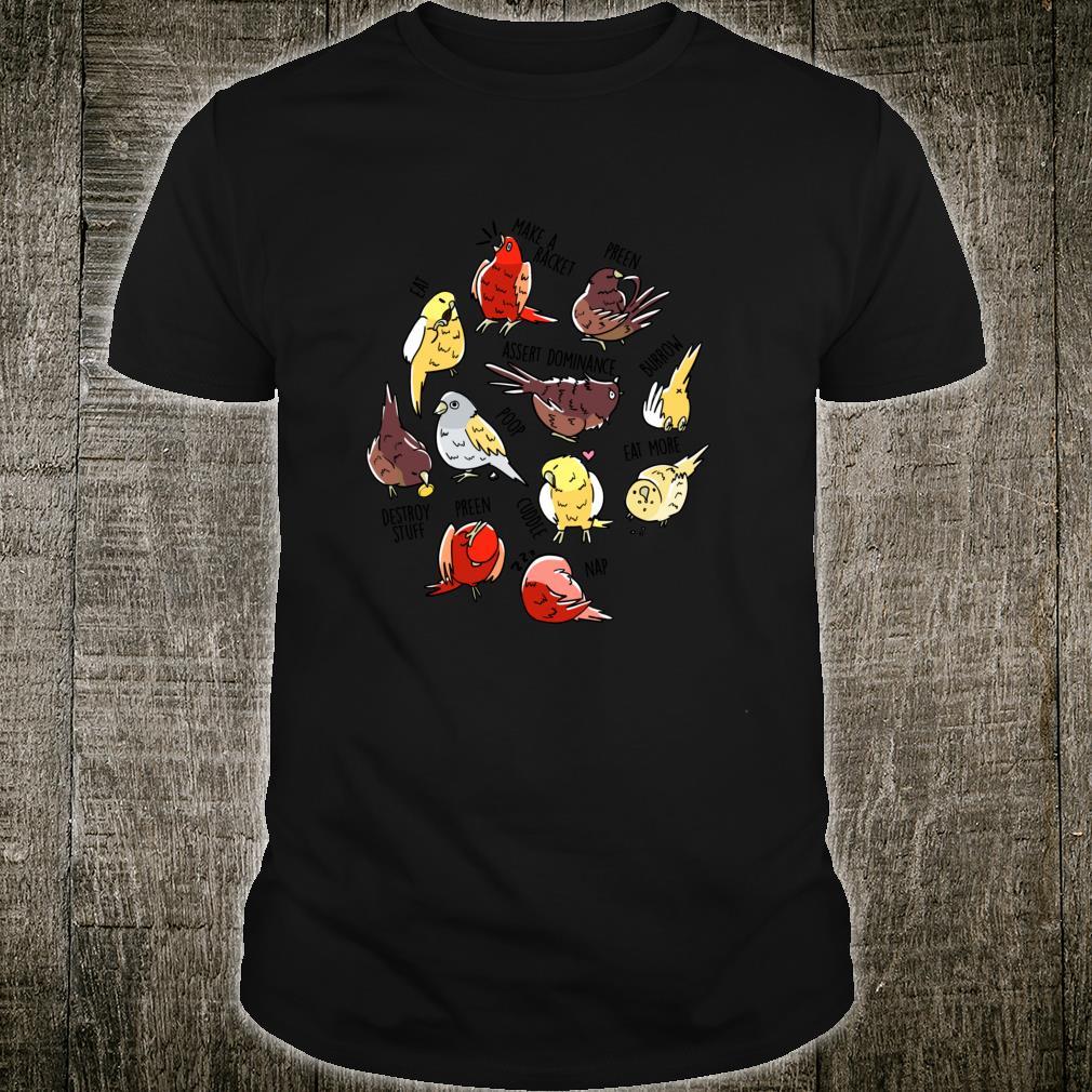 Daily To Do List Canary Finch Songbird Pet Bird Shirt