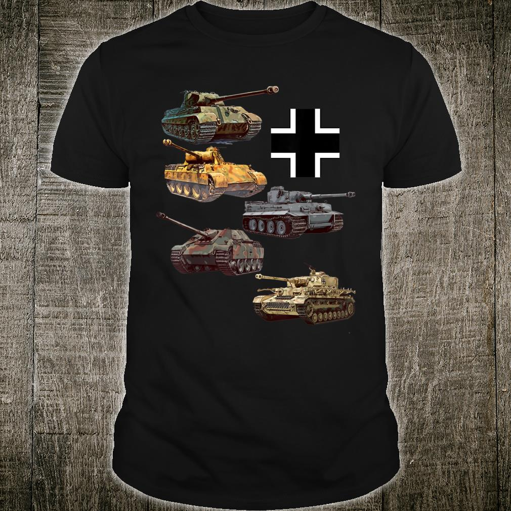 Deutsche Panzer WW2 V Panther Jagdpanther Tiger 1 Tiger 2 Shirt