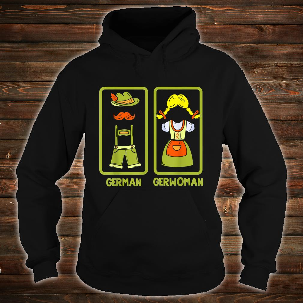 Deutschland German Gerwoman Funshirt Shirt hoodie