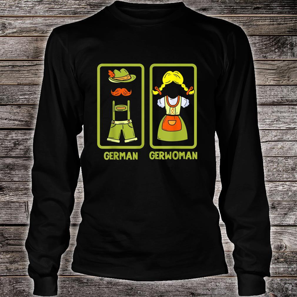 Deutschland German Gerwoman Funshirt Shirt long sleeved