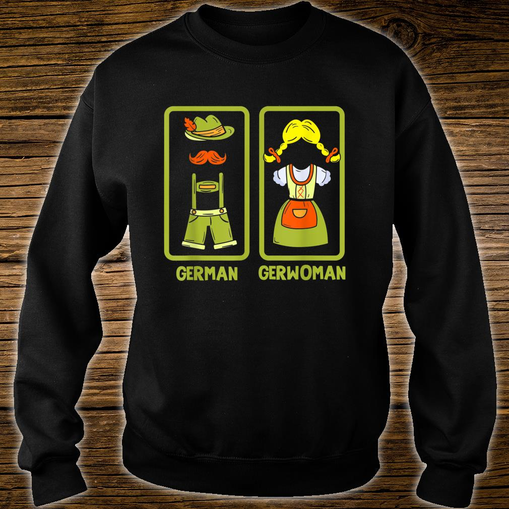 Deutschland German Gerwoman Funshirt Shirt sweater