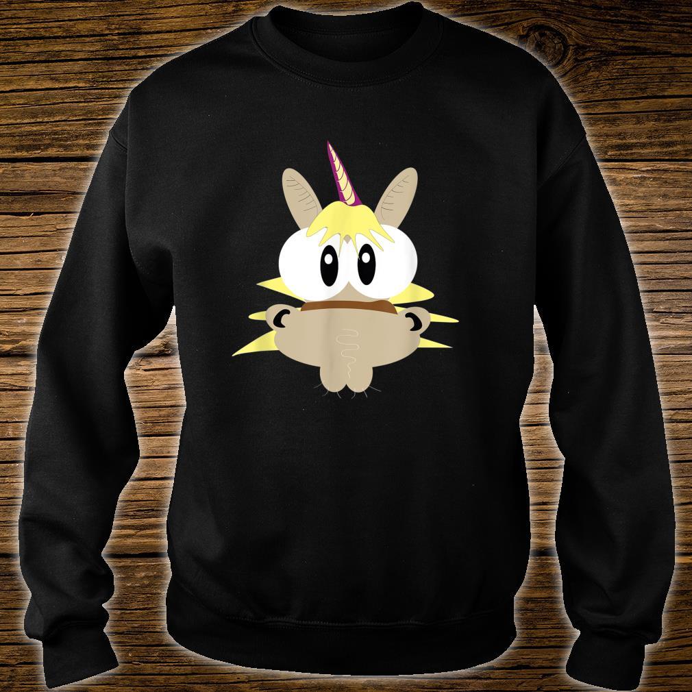 Einhorn Pferd mit großen Augen Shirt sweater
