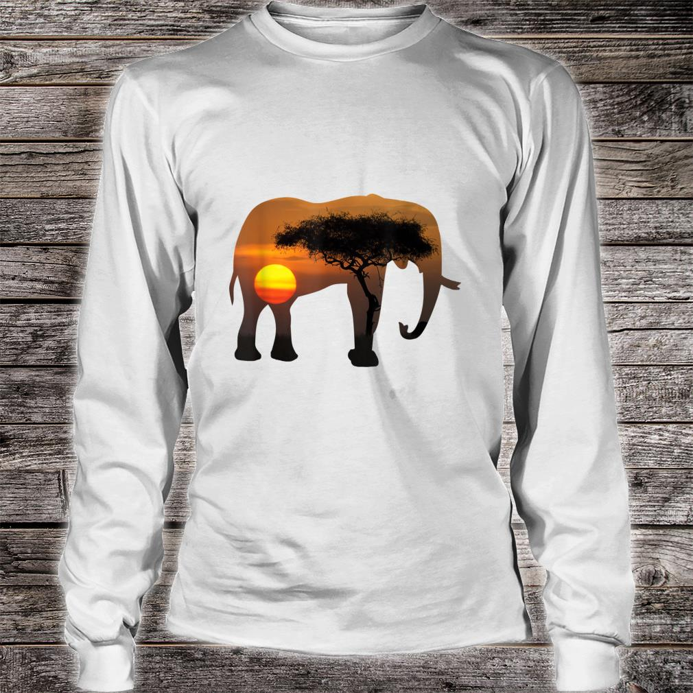 Elephant nature print 2020 and hot topic Shirt long sleeved