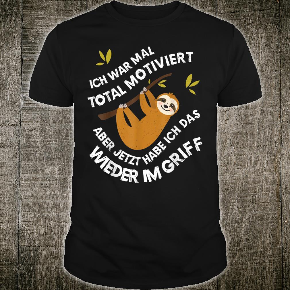 Faultier Sloth Geschenk für Mitarbeiter Freunde lustiges Shirt