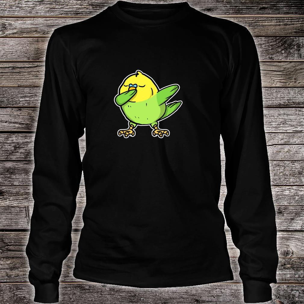 Funny Dabbing Budgie Dab Dance Cool Budgie Bird Shirt long sleeved