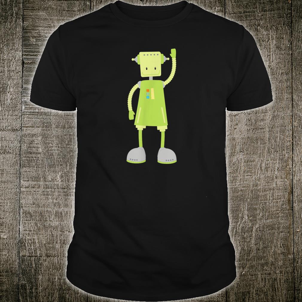 Funny Robot Shirt Green Robot Cute Science Robots Shirt