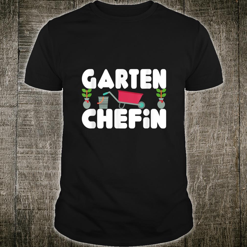 Garten Chefin Gärtnerin Ruhestands Shirt