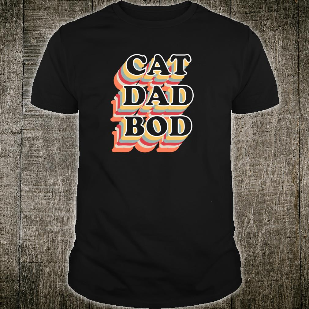 Gifts for Cat Dads Cat Dad Bod Vintage Fitness Gym Shirt
