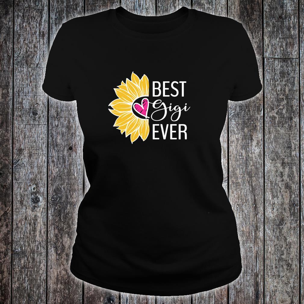 Gigi Best Gigi Ever Sunflower Heart Shirt ladies tee
