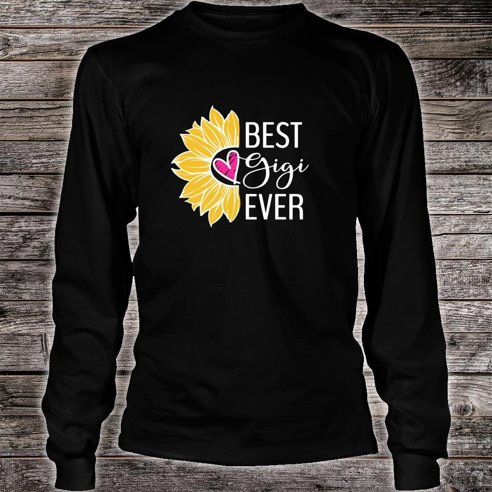 Gigi Best Gigi Ever Sunflower Heart Shirt long sleeved