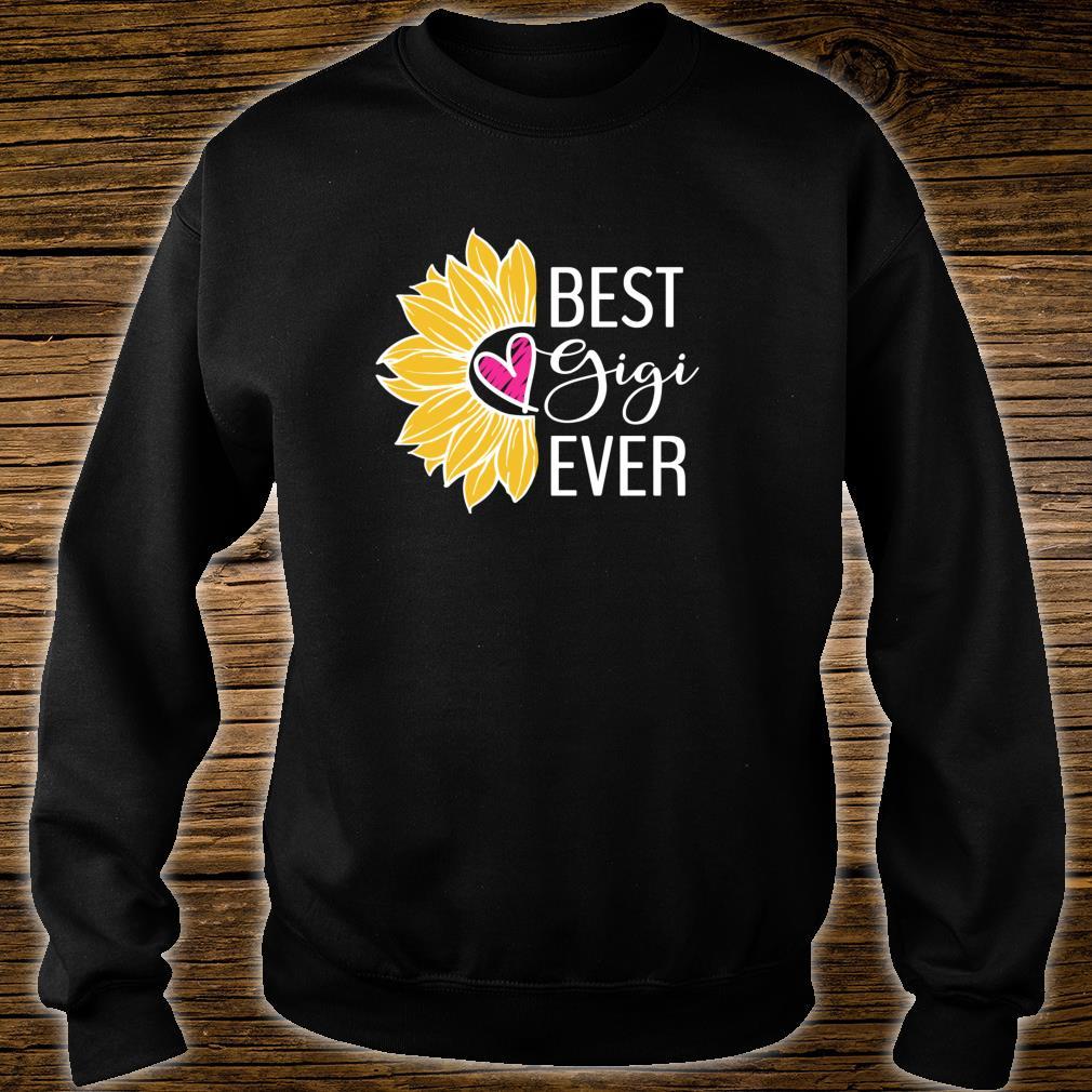 Gigi Best Gigi Ever Sunflower Heart Shirt sweater