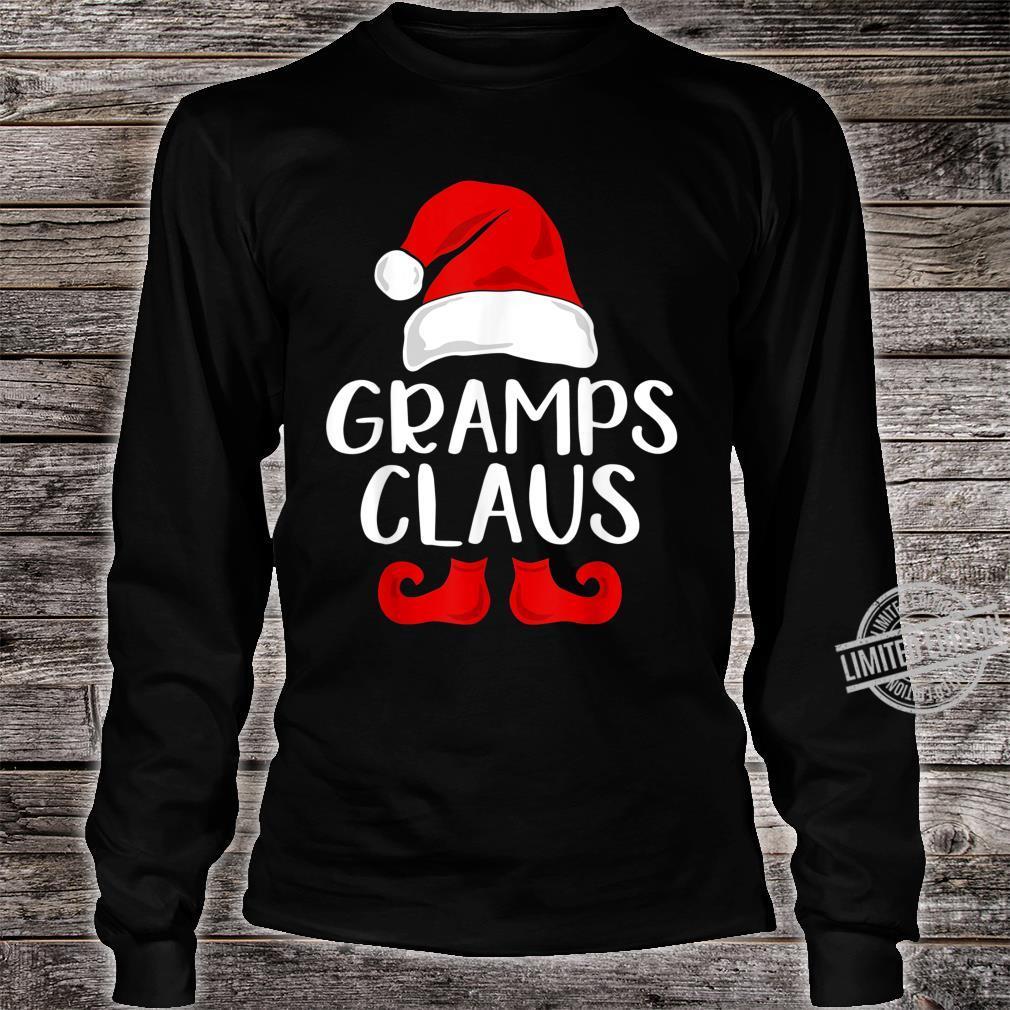 Gramps Claus Grandpa Santa Claus Red Christmas Hat Shirt long sleeved