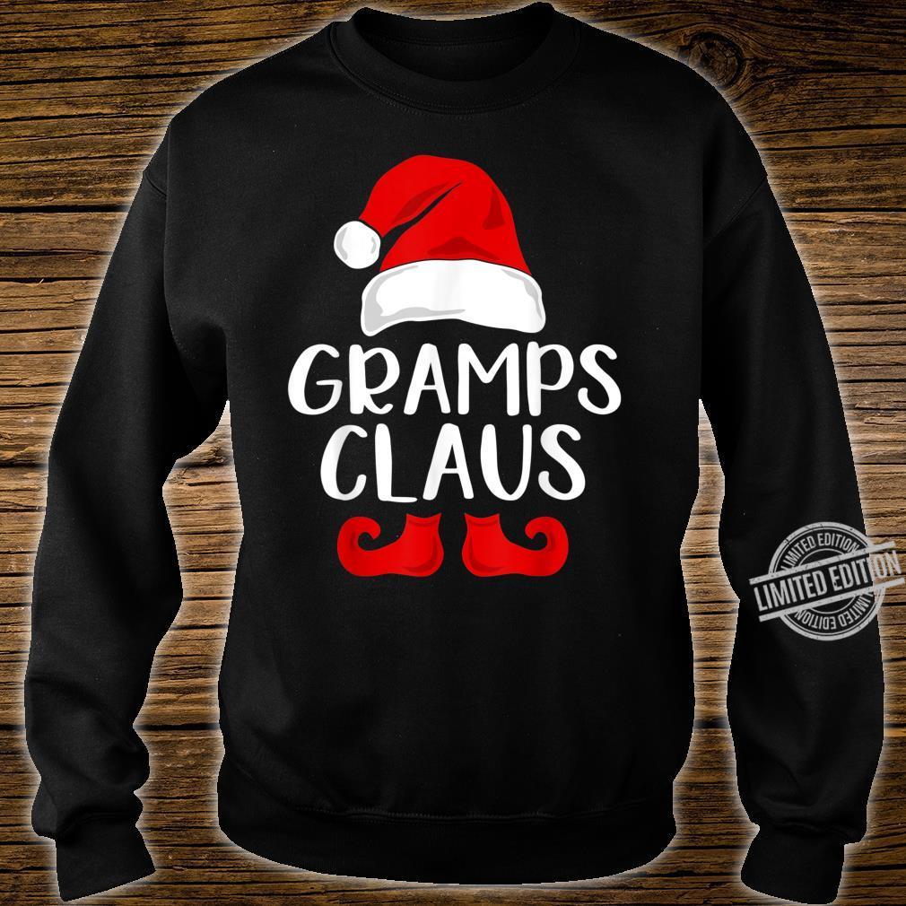 Gramps Claus Grandpa Santa Claus Red Christmas Hat Shirt sweater