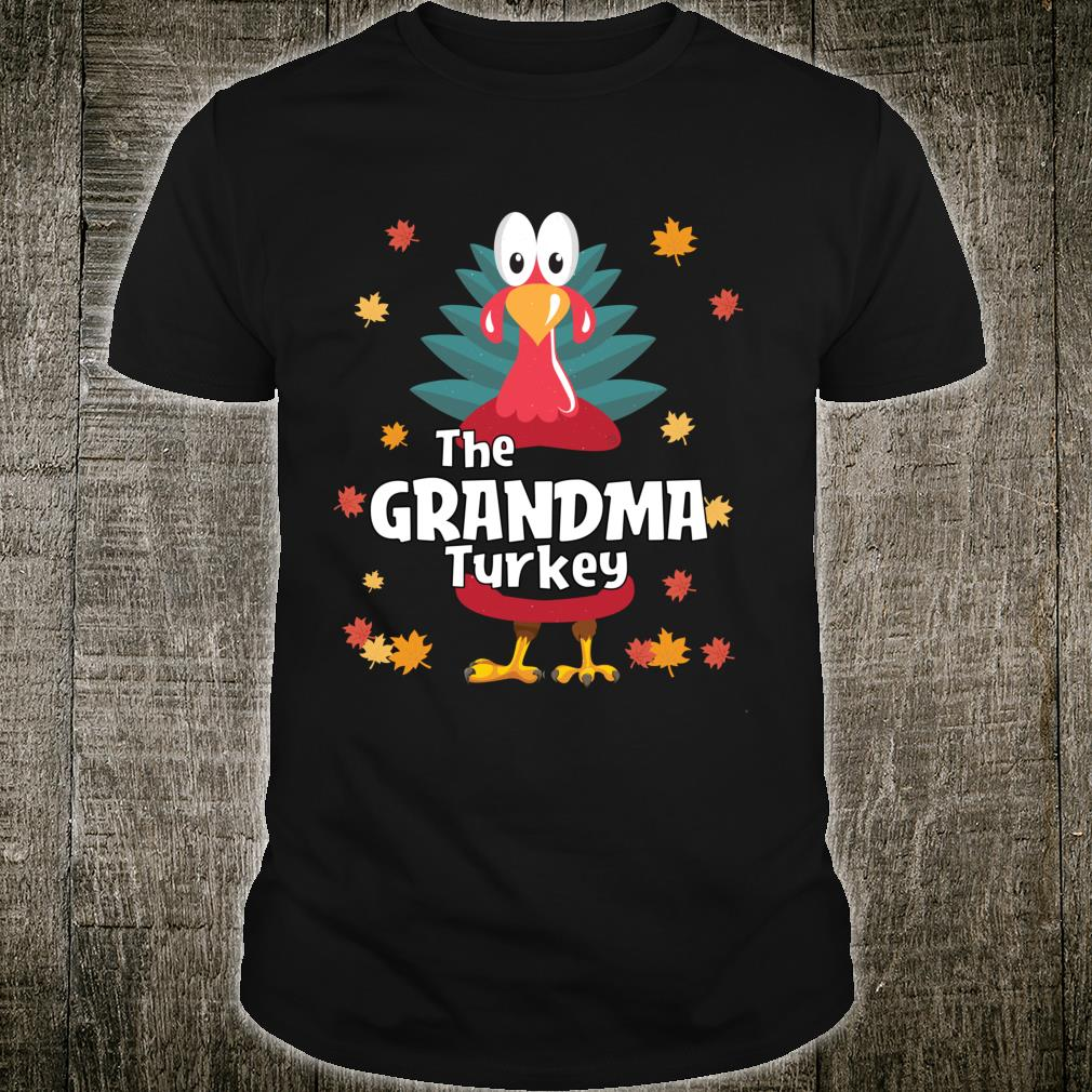 Grandma Thanksgiving Family Matching Pajama Shirt