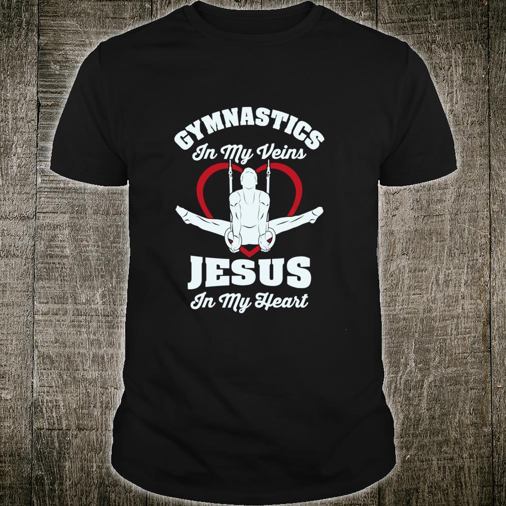 Gymnastics In My Veins Jesus In My Heart Gymnasts Shirt