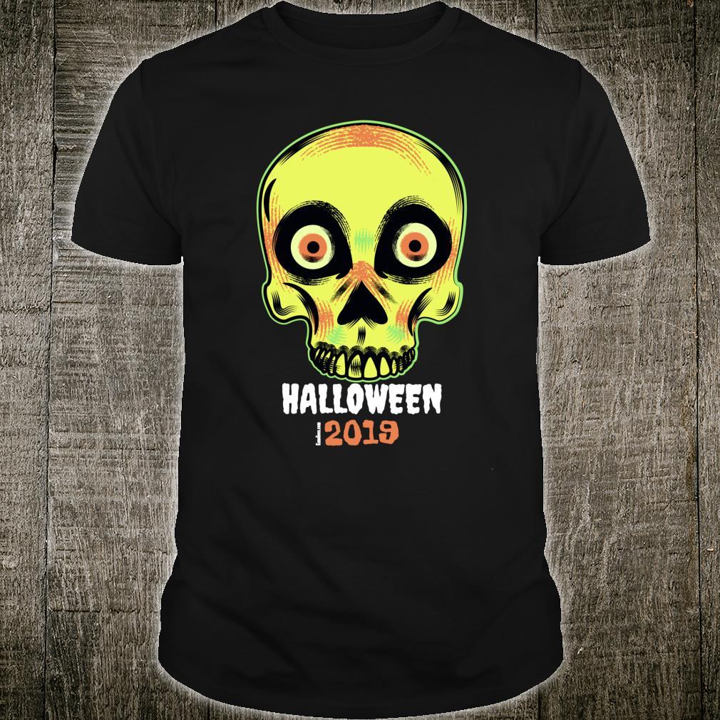 Halloween 2019 Apparel Spooky Dead Man's Skull Shirt