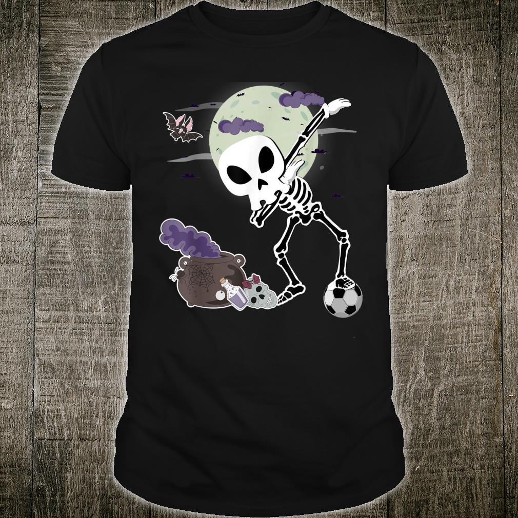 Halloween Alien Skull Dab Soccer Skeleton Dabbing Shirt